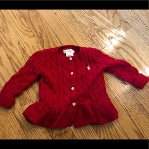 Precious Ralph Lauren cable knit cardigan sweater